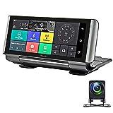 7インチ4G車のDVRカメラ、FHD 1080Pデュアルレンズミラーダッシュカム、GPSアンドロイドADASリモートモニタービデオカメラ、180°折りたたみ式、ループ記録、モーション検出、Gセンサー
