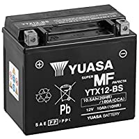 Yuasa YTX12-BS - Batería con paquete de ácido,12V, 10Ah