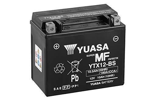 Yuasa YTX12-BS - Batería con paquete de ácido,12V, 10Ah, 15 x 8.7 x 13 cm