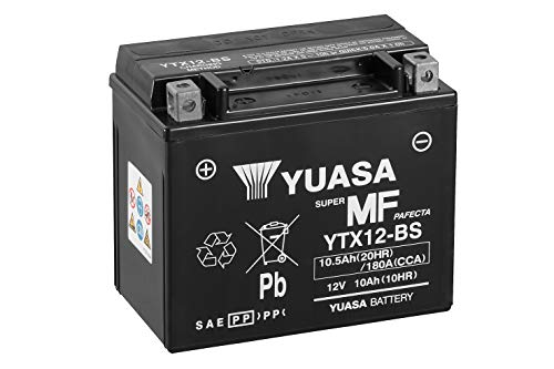 YUASA BATTERIE YTX12-BS AGM offen mit Saeurepack