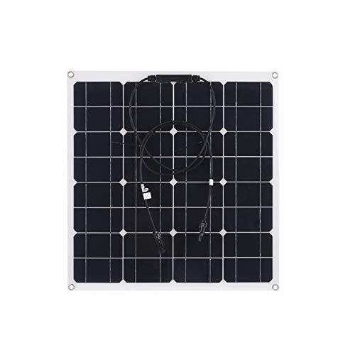 Lixada 50W Panel Solar Monocristalino IP65 Resistencia para Campers, Autocaravanas, Placa Solar Autoconsumo - Portátil, Ligero y Resistente