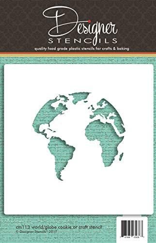 Mapa del mundo (Globe) diseño de galletas by Designer plantillas