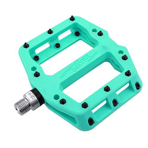 MZYRH MTB Pedals Mountain Bike Pedals Lightweight Nylon 3 Bearing Non-Slip Fiber Bicycle Platform Pedals for BMX MTB 9/16'