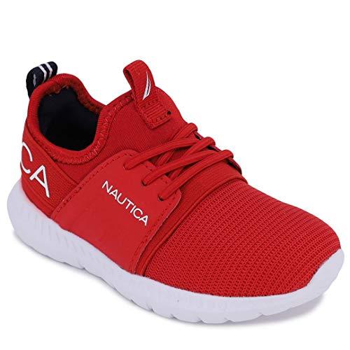 Nautica Tenis de correr transpirables con cordones para niños (niños pequeños), rojo (Tonal rojo), 23.5 EU