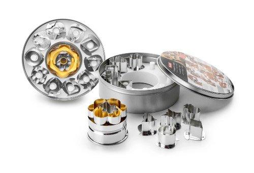 Ibili 774550 Lot 11 emporte-pièces Linzer 5 cm