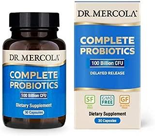 Dr Mercola, ,Complete Probiotics (100 Billion CFU), 30 Servings (30 Capsules), non GMO, Soy-Free, Gluten-Free