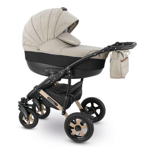 Camarelo SEVILLA Kombikinderwagen - Kinderwagen - Buggy Farbe XSE-7 beige melange/schwarz