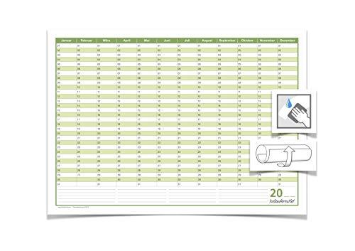 Dauer/Geburtstagskalender, immerwährender Kalender, DIN A2, Format: 59,4mm x 42,0mm, 250 gr. Premium Qualitätspapier, feucht abwischbar