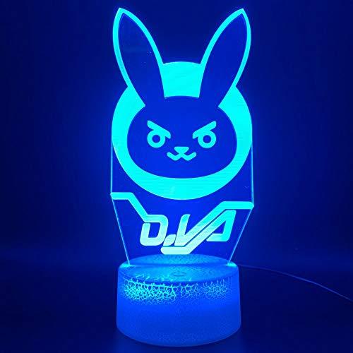3D Illusion Night Light Game Overwatch Hero Widowmaker Figure Office Home Decor Night Light Christmas Kids Gift Child Bedroom Table Lamp Night Light