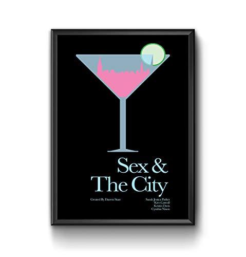 QUADRO POSTER COM VIDRO SEX AND THE CITY