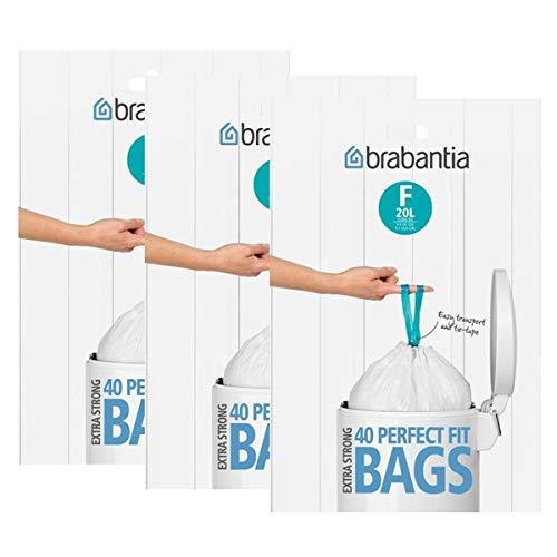 3x Brabantia Müllbeutel Spenderverpackung 20 l (F) Slimline 40 Stück