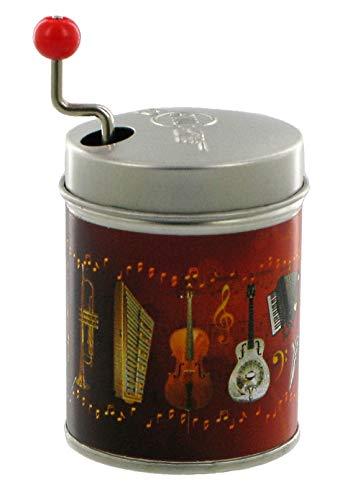 Lutèce Créations Boîte à Musique à manivelle dans Une boîte de résonnance en métal agrémentée d'instruments de Musique (Réf : BM-INST-01) - Over The Rainbow - Le Magicien d'Oz (H. Arlen)