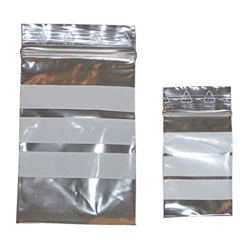 Homöopathie- 100 Verschlußbeutel f. Globuli 60x80 Schnellverschlussbeutel Tüten Tütchen Beutel Fa.ars