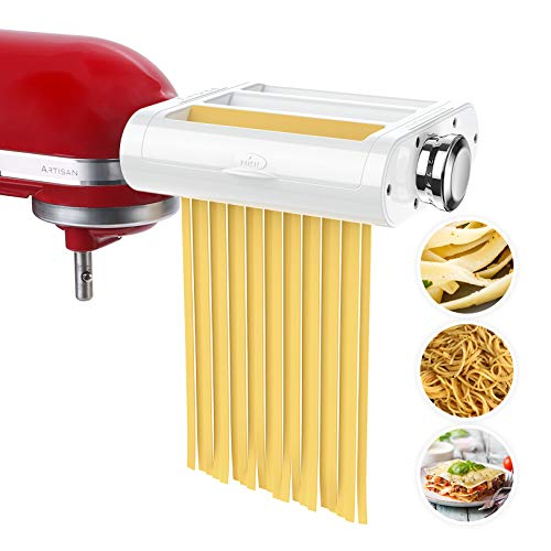 ANTREE Pasta Maker Attachment 3 in 1 Set for KitchenAid Stand Mixers Included Pasta Sheet Roller,...
