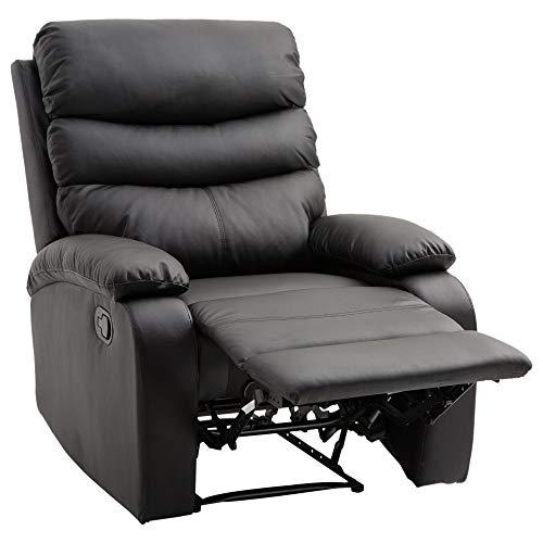 MCombo Poltrona massaggiante in Pelle Poltrona TV Poltrona Relax Altalena oscillante USB