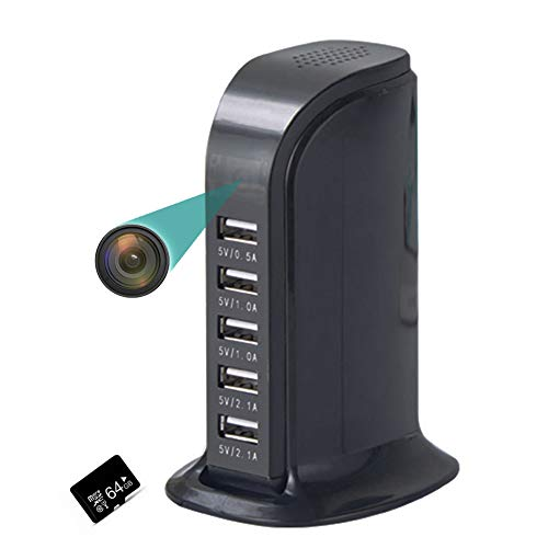 WiFi Oculto Cmara Seguridad, HD 1080P 140  ngulo Visin Amplio Cmara Visin Nocturna Pequeo Seguridad para El Hogar, Deteccin Movimiento para Beb/Elder/Animal Domstico Monitor,Negro