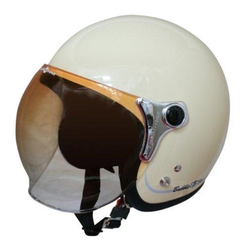 ダムトラックス(DAMMTRAX) バイクヘルメット ジェット BUBBLE-BEE P.IVORY フリーサイズ(57CM~60CM未満)