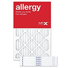 MINIMUM EFFICIENCY REPORTING VALUE (MERV) RATED AIR FILTER: AIRx Filters 16x25x1 (Actual: 15.50 x 24.50 x 0.75 in) air filter are MERV rated to assure customers the effectiveness of our AC Furnace air filters. While the family enjoy a cleaner air, it...