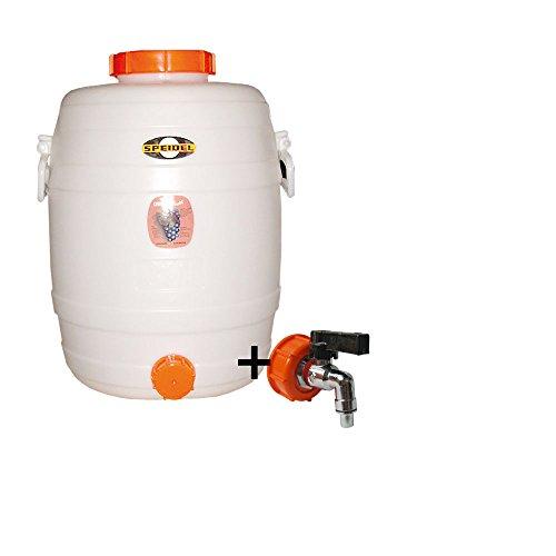 Speidel Getränkefass Rund 30 Liter mit Messing Auslaufhahn