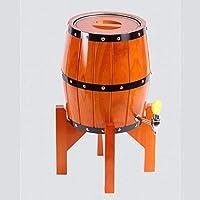 JIANGLI Barriles Verticales de Roble, barriles de Cerveza, barriles de Acero Inoxidable, tinas de Uso doméstico, Vino y licores.Tres Colores, capacidades múltiples. (Color : Orange, Size : 3 Liters)