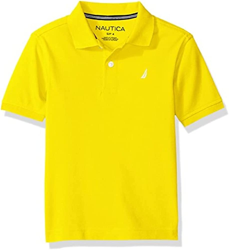 Nautica Boys' Short Solid Ranking TOP8 Manufacturer OFFicial shop Sleeve Polo