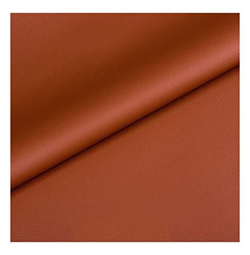 wangk Polipiel para Tapizar Telas Artificial Cuero Suave Tela De Vinilo Resistente Al Desgaste Impermeable De Cuero Artificial Automotive Interiors Cuero Sintético Sofá -Marrón 1.37x5m