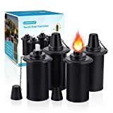 LANMU Torch Canisters, Bamboo Torch Refill Canister, Replacement Citronella Torch Fuel Canisters 16 oz with Wicks and Covers, Outdoor Patio Torch for Luau Party, DIY Garden Torch Decor (4 Pack)