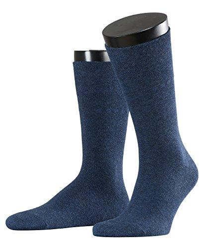 ESPRIT Herren Socken Basic Easy 2-Pack - 80% Baumwolle, 2 Paar, Blau (Navy Melange 6127), Größe: 39-42
