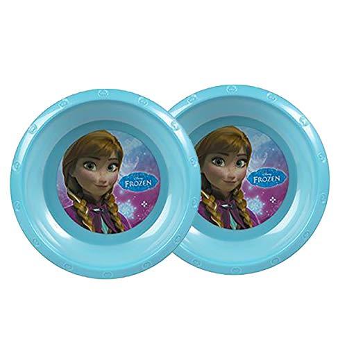 HOGAR Y MAS Plato Infantil Plástico Hondo, Frozen para Niños y Bebés en Set de 2.