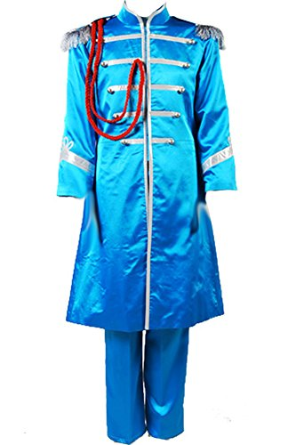 Cosplaysky The Beatles Costume SGT.Pepper's Lonely Hearts Club Paul McCartney Cosplay X-Large Blue