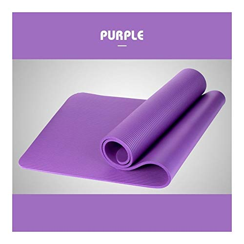 AGNN Yoga-Matten-Workout Elastic Anti-Rutsch-Eignung-Gymnastik-Matten Taschenträger Dickes Knie Übung Pad Matte (Color : Purple)