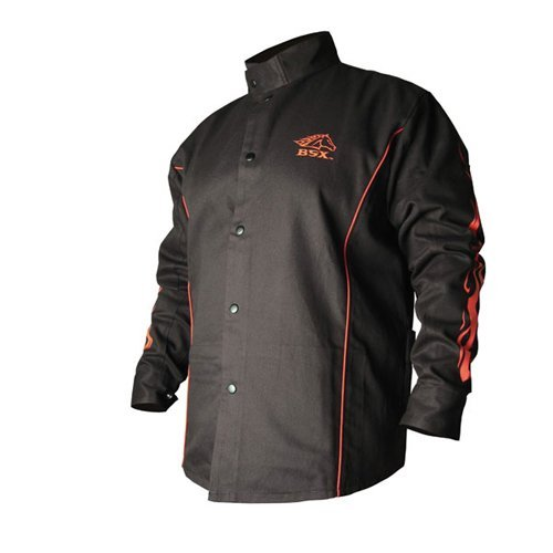 Revco BX9C-M Medium Black/Red BSX Stryker FR Welding Jacket