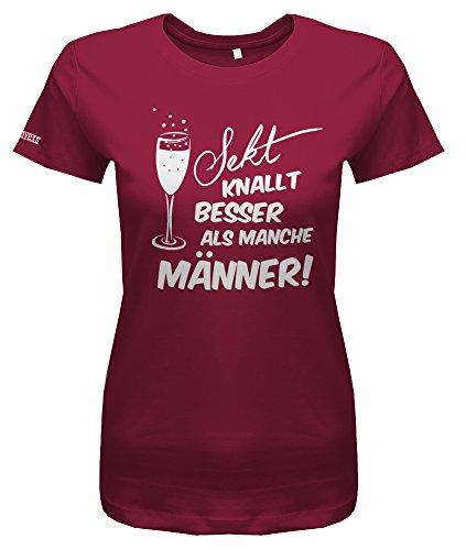Jayess Sekt KNALLT Besser ALS Manche MÄNNER - Sorbet - Women T-Shirt by Gr. M