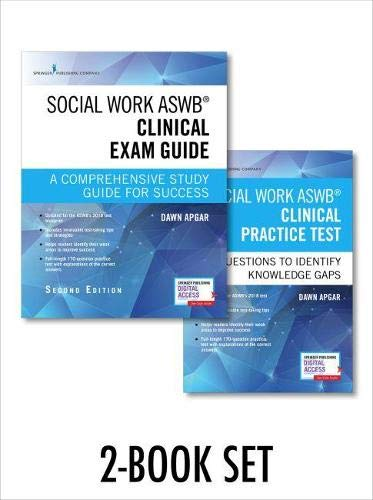 Social Work ASWB Clinical Exam Guide and Practice Test, Second Edition Set – Includes a Comprehensive Study Guide and LCSW Practice Test Book with 170 Questions, Free Mobile and Web Access Included