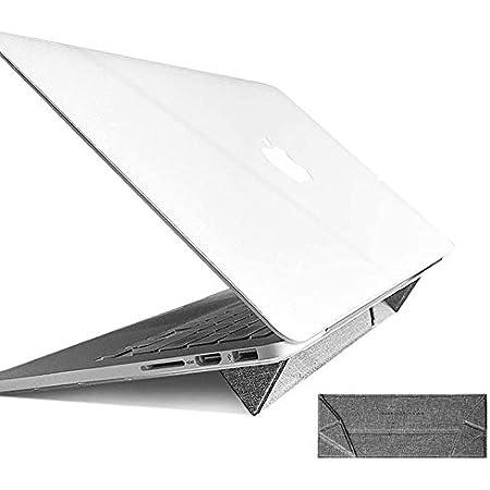 Newanna laptop stand ノートPC スタンド ノートパソコンスタンド タブレット ラップトップスタンド ホルダー 折りたたみ インビジブル 軽量 携帯型 コンパクト 超薄 放熱対策 滑り止め付き MacBook Pro/iPad Pro/Surface Laptop/ASUS/Acer/Brother/DELL/東芝(TOSHIBA)/富士通対応(グレー)