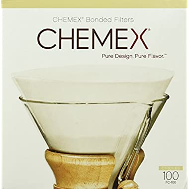 Chemex Bonded Coffee Filters, Circle, 100ct