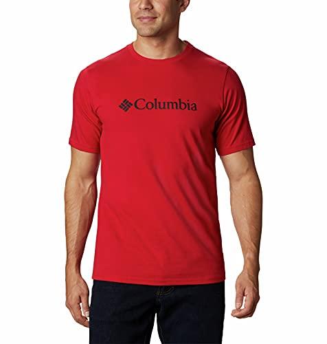 Columbia Camiseta de Hombre CSC Basic Logo Camiseta Hombre, Hombre, Camiseta para Hombre, 1680054, Rojo Montaña, 3X