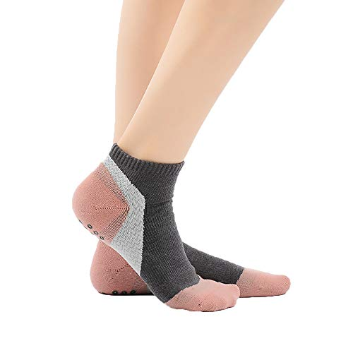 T.M.R.W. Clothing Damen-Druck-Yoga-Socken, rutschfeste, Dicke Terry-Sportsocken, Kompressionssocken zum Laufen, Indoor-Sport, Trampolin