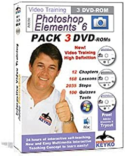 Adobe Photoshop Elements 6 Tutorial Training in 3 DVDs By Keyko