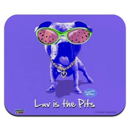 Maus Matte, Luv ist die Gruben Liebe Pitbull Sonnenbrille Low Profile Dünne Mauspad Mousepad, Gaming Mouse Pad