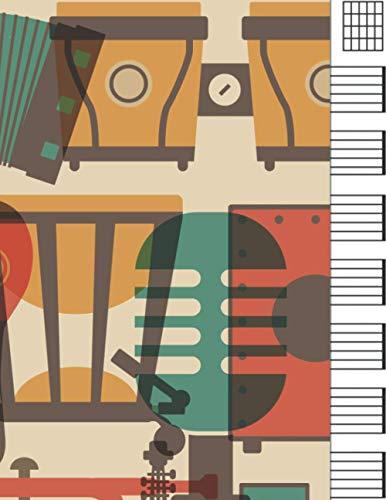 Cuaderno De Tablatura Guitarra: cuaderno partituras guitarra