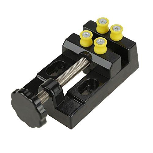 LANTRO JS - Mini tornillo de banco plano para tallado, tornillo de banco de mesa para bricolaje, herramienta de soporte para tallado de joyas para carpintería
