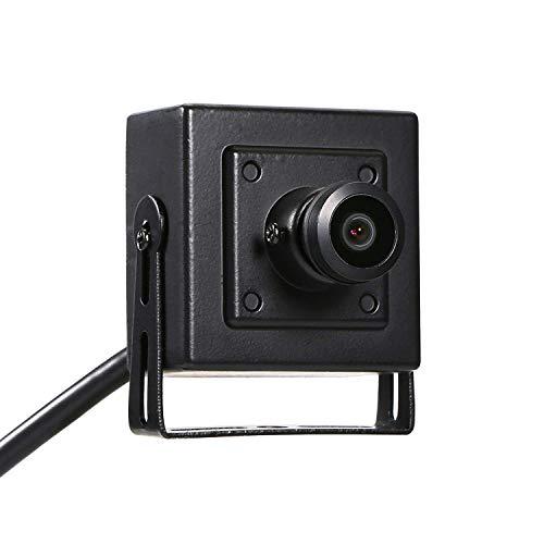 HD Fisheye Mini IP Cámara Vigilancia - Revotech® - H.265 3MP 1080P 2MP 1,44mm Panorámico Interior Cámara Seguridad Detección de Movimiento ONVIF P2P CCTV Cámara Sistema (I706-4 Negro)