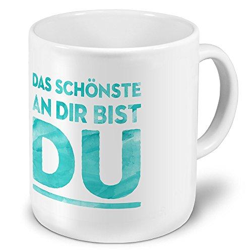 printplanet XXL Riesen-Tasse mit Spruch: Das schönste an dir Bist DU - Kaffeebecher, Sprüchebecher Becher, Mug