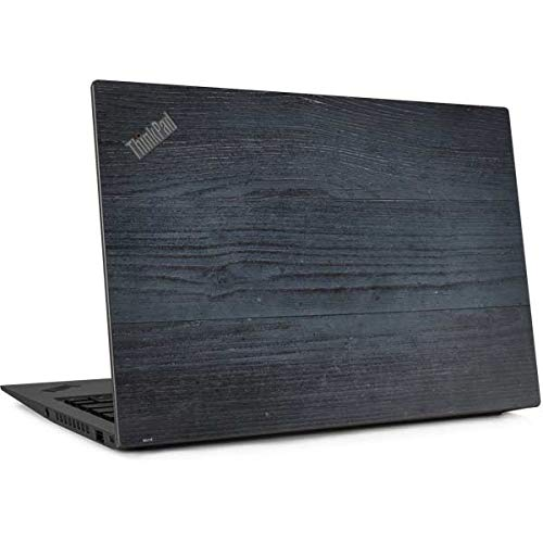 Skinit Decal Laptop Skin for Thinkpad X1 Carbon (6th Gen 2018) - Officially Licensed Originally Designed Charcoal Wood Design