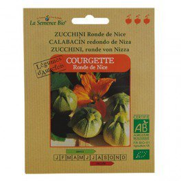 Graines bio Courgette ronde de Nice - La Semence Bio