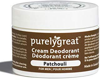 Men's All Natural Deodorant | Aluminum Free Deodorizer | Long Lasting Deodorant Cream | EWG Verified, Vegan, Cruelty-Free, No Aluminum, No Parabens, BPA Free | Essential Oils (Patchouli Scent)