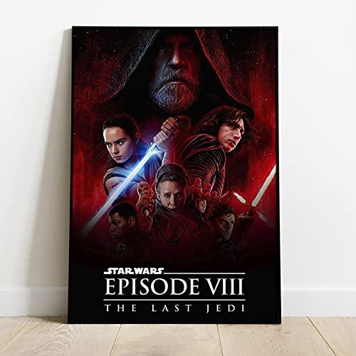 Arte su tela 50x70cm Senza cornice Star Wars Rise Of Skywalker Movie Poster Wall Art Picture Soggiorno Decorazione Della Casa