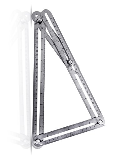 Upgraded Stainless Steel Multi-Angle Measuring Ruler Angle-izer Template Tool Construction Precision Steel Foldable For Carpenters Builders DIY 7Projects Measure Make Bulls Eyes Arches By ALLANGLES