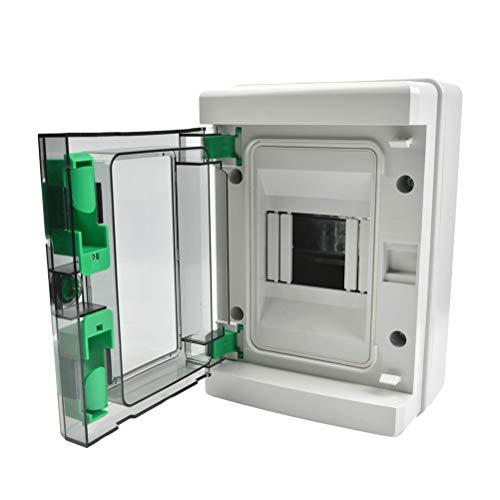 YANSHON Caja de Distribución Eléctrica de Superficie de plástico, Caja Modular Estanca...